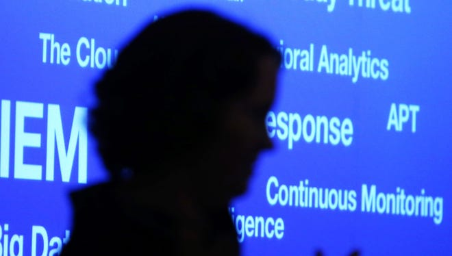 Heather Adkins, information security manager for Google Inc., talks about cyber security during the SANS Institute 2014 Cyber Threat Intelligence Summit, on February 10, 2014 in Arlington, Virginia.