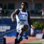 Florida senior Marquis Dendy, a Middletown High graduate, wins the triple jump at the 2015 NCAA Track & Field Championships in Eugene, Ore.