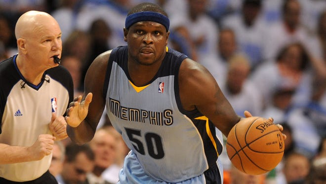 Memphis Grizzlies forward Zach Randolph (50) has resigned with the team.