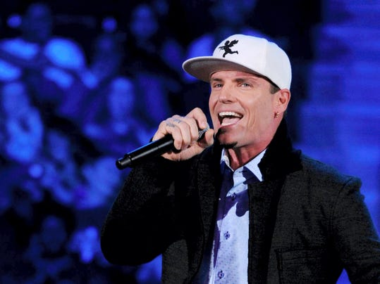 Vanilla Ice performs onstage at the 2013 Soul Train Awards at the Orleans Arena on Friday, Nov. 8, 2013 in Las Vegas. (Photo by Frank Micelotta/Invision/AP)