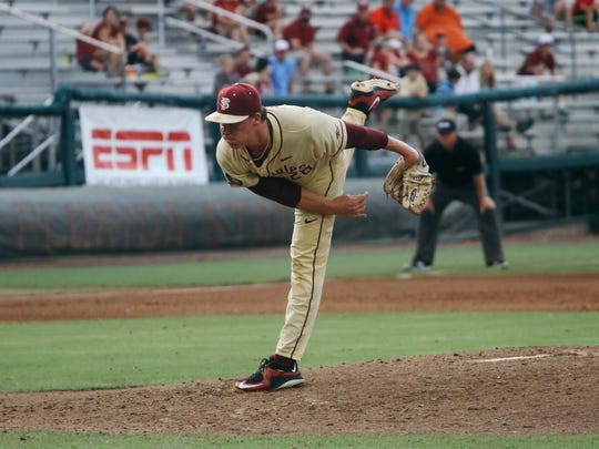 Cole Sands tossed five innings for FSU giving up just