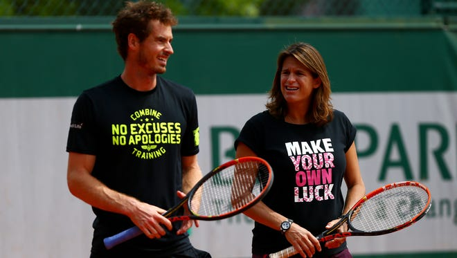 Amelie Mauresmo was Andy Murray's coach for two years.