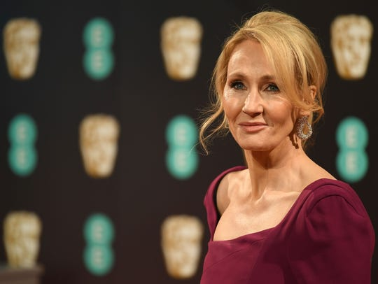 British author J. K. Rowling last year at the BAFTA