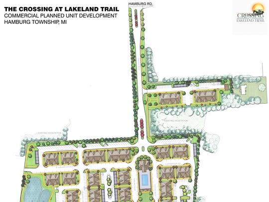 A site plan of The Crossing at Lakeland Trail apartment
