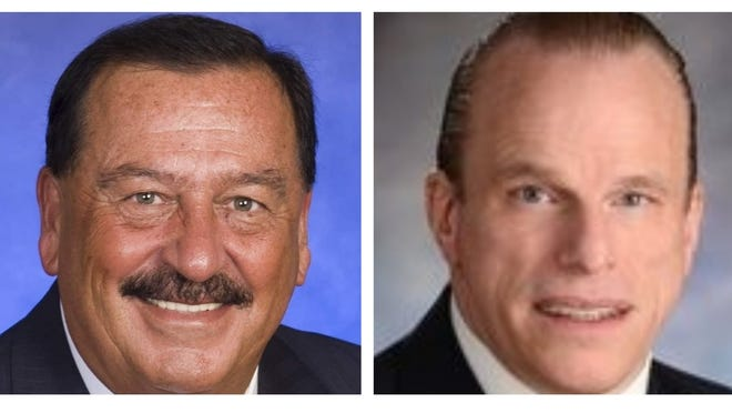Ron Mariano, left, and Stephen Tougas are candidates for the Massachusetts House of Representatives.