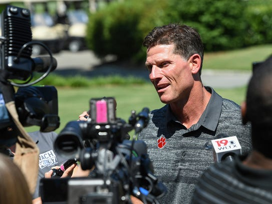 Clemson defensive coordinator Brent Venables answers