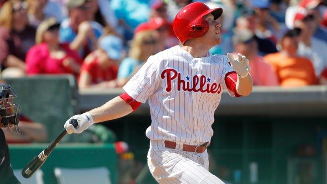 Cody Asche was the Phillies regular third baseman last year.