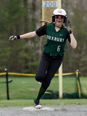 Duxbury's Alannah Akins will compete in a charity softball home run derby next week to raise money for cancer research.