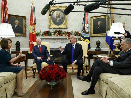 Donald Trump,Nancy Pelosi,Chuck Schumer,Mike Pence