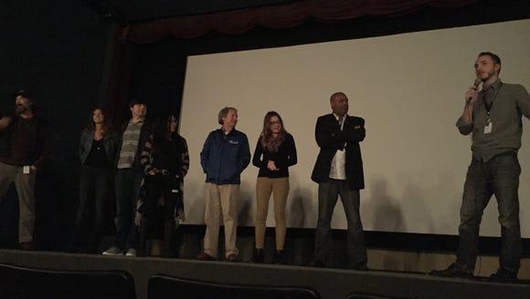 Festival director Matt Longmire (right) introduced