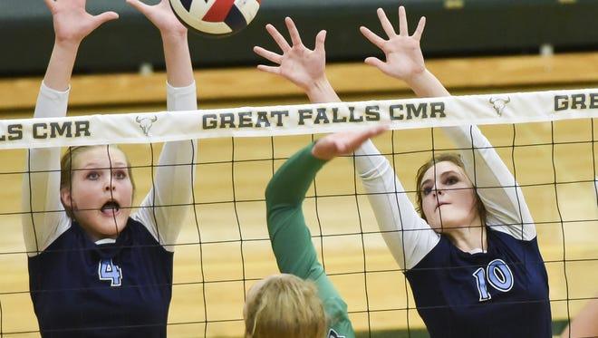 Great Falls' Abbie Groskreutz and Hadlee Bleskin