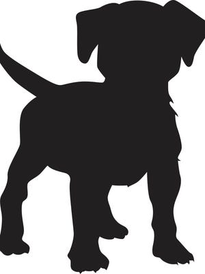 Silhouette of a puppy