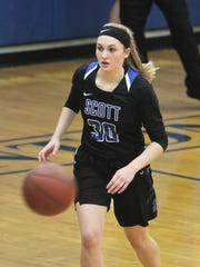 Scott senior Anna Clephane during Simon Kenton's 60-51
