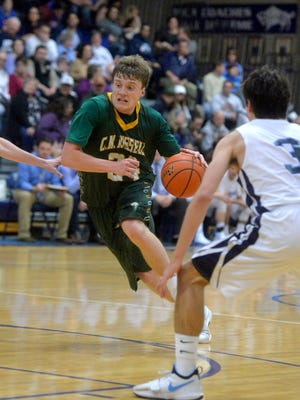 CMR's Sam Vining scored a game-best 19 points on five 3-pointers as the Rustlers defeated Bozeman Friday night.