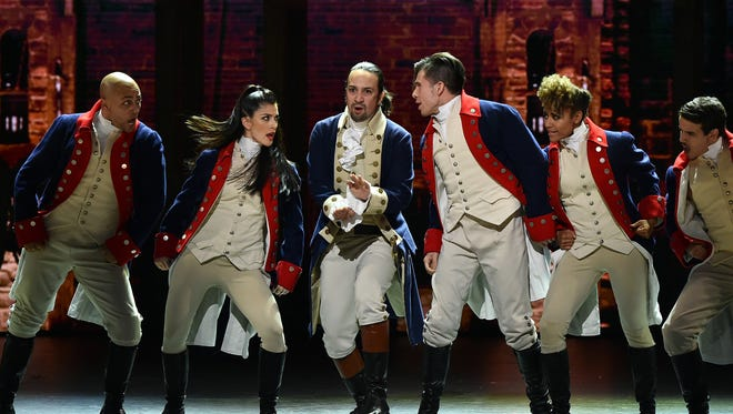 Lin-Manuel Miranda and the cast of Broadway's'Hamilton' perform onstage during the 70th Annual Tony Awards on June 12, 2016 in New York City. In addition to production in New York and Chicago, the show announced a second touring cast for 2018.