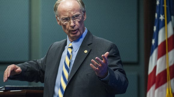 Alabama governor Robert Bentley speaks at the Governor's