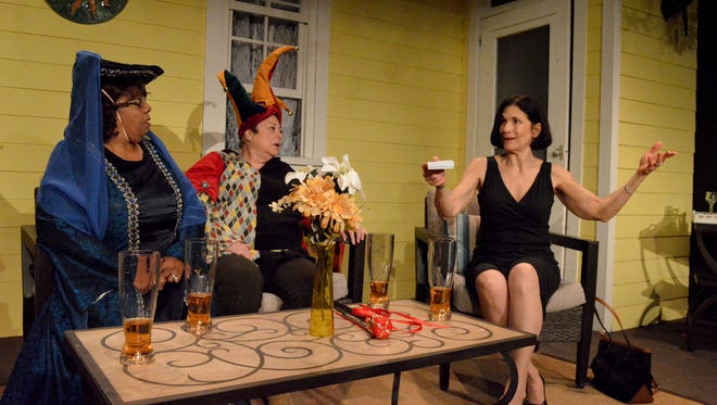 Connie Norwood as Dot, Dawn Varava as Marlafaye and Stacy Skinner as Randa in a scene from 'The Savanna Sipping Society' at South Camden Theatre Company. Says Artistic Director Ray Croce, 'There's a really strong feminist component happening now in the current political environment. And I think it's especially timely to make an effort to incorporate female playwrights in our season at a time when women's voices are so critical overall to what is happening around us.'