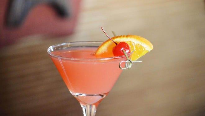 The blood orange martini at Hula's Modern Tiki blends vodka, juice and orange liqueur.