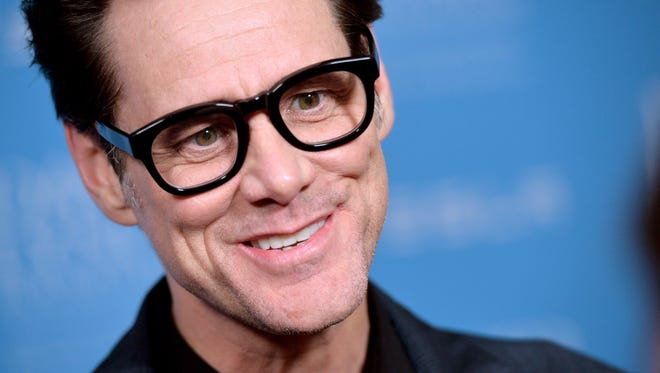 Jim Carrey arrives at the David Lynch Foundation Gala Honoring Rick Rubin at the Beverly Wilshire Hotel on February 27, 2014 in Beverly Hills, California.
