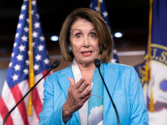 House Minority Leader Nancy Pelosi, D-Calif., speaks
