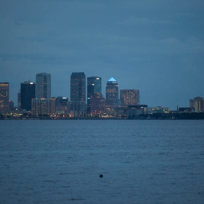 The city skyline of downtown Tampa can be seen Wednesday,