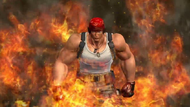 Ralf Jones gets heated in The King of Fighters XIV.