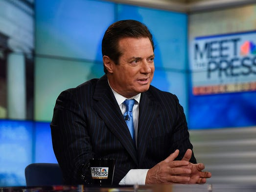 "Paul Manafort appears on ""Meet the Press"" in Washington"