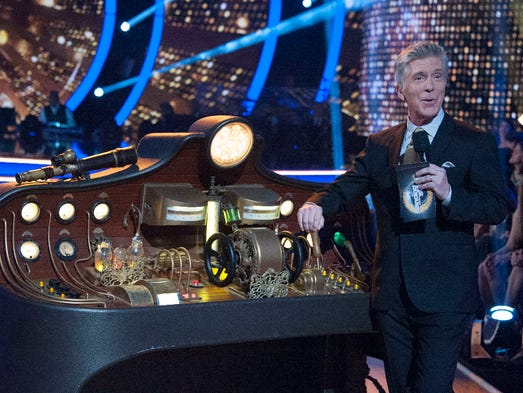 "Host Tom Bergeron during  ""Dancing with the Stars"""
