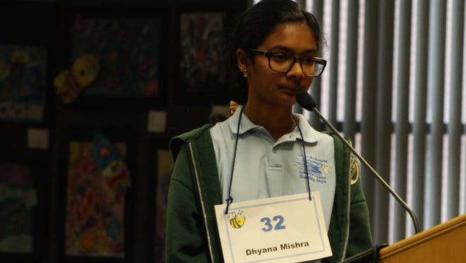 Dhyana Mishra, a sixth-grader at West Melbourne School for Science, took first place at Wednesday's Brevard County Spelling Bee.