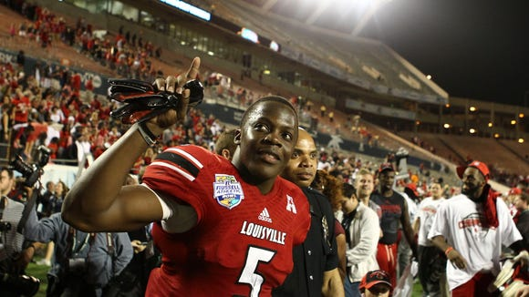 Louisville's Teddy Bridgewater, who graduated in three years, helped the Cardinals football team to a perfect APR score for the 2012-2013 year.