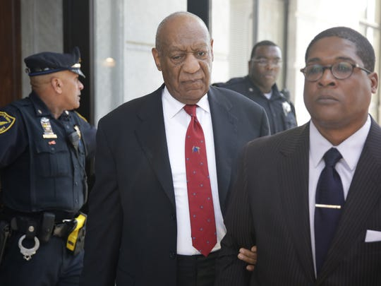 Actor and comedian Bill Cosby comes out of the courthouse after the verdict in the retrial of his sexual assault case at the Montgomery County Courthouse in Norristown, Pa., on April 26.