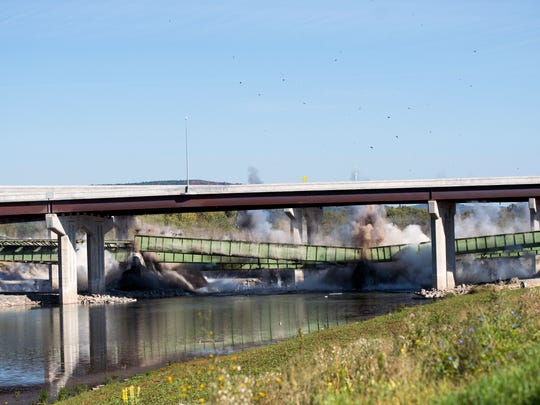 The old Interstate-81 bridge was taken down by a controlled
