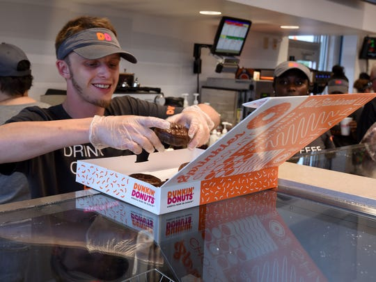 "Knoxville is the first in the Southeast to have this ""next generation concept"" Dunkin' Donuts store that includes an On-the-Go drive thru for those using the DD app. The new store is located in the 4400 block of Western Ave."