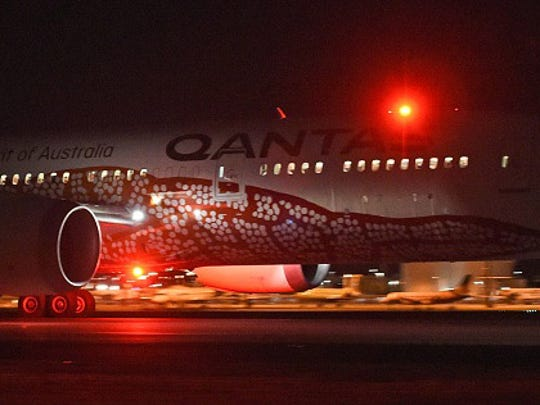 Qantas' 787 Dreamliner takes off on its inaugural flight from Perth to London on March 24, 2018. Qantas' 14,498 kilometre (9,009-mile) journey from the southwestern city to London is the world's third-longest passenger flight, the Australian carrier said, and the first ever regular service to connect the two continents directly.