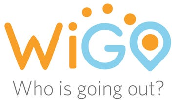 The logo for WiGO, the new college nightlife app that helps students find out where their friends are going. The app was created by Burlington native Ben Kaplan.