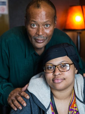 Virgil Harris and his 23-year-old daughter Jazmyne Harris pose for a portrait in Indianapolis on Sunday, June 10, 2018. Jazmyne Harris was diagnosed with Friedreich's ataxia (FA) at age 14.