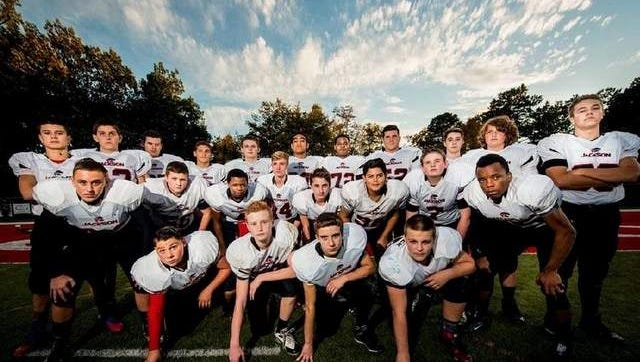 Members of Jackson AYF's 8th-grade unlimited football squad will compete nationally in Florida this year.