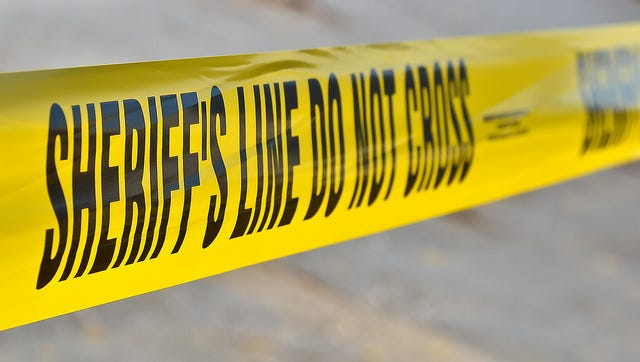 Sheriff's crime scene tape is shown in this file photo.