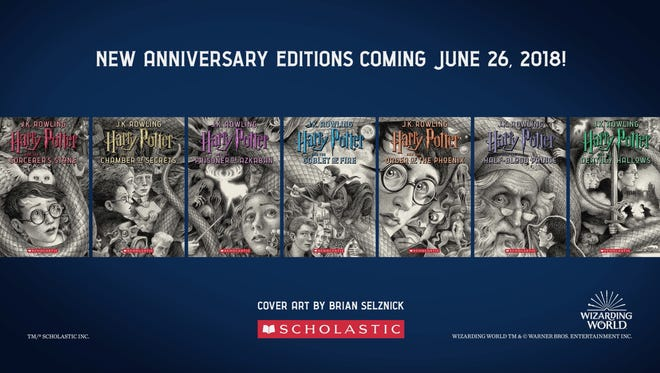 "On Tuesday, April 10, Scholastic revealed new covers for the Harry Potter series illustrated by East Brunswick's Brian Selznick. The new covers are part of Scholastic's year-long campaign to celebrate the 20th anniversary of the U.S. publication of ""Harry Potter and the Sorcerer's Stone."""