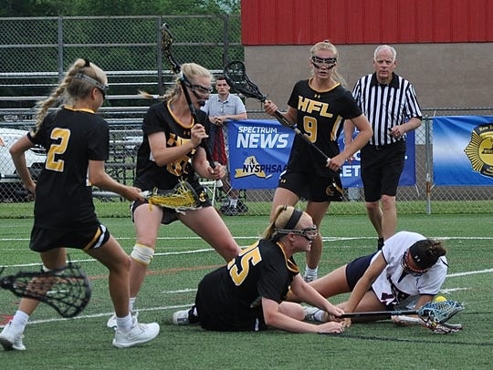 Honeoye Falls-Lima's MacKenzie Bushnell and Cold Spring