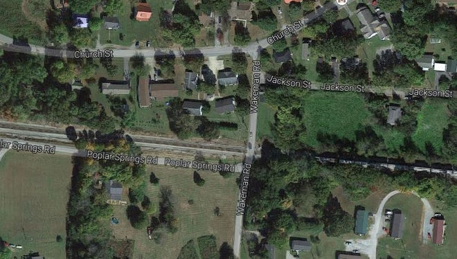 Screenshot of Google Maps in the area where traffic and street name signs were stolen in White Bluff overnight.