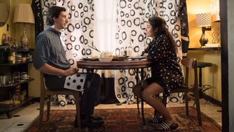 "Adam Driver and Golshifteh Farahani in a scene from ""Paterson."""