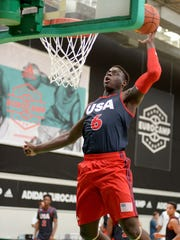 Rawle Alkins in action during adidas Euriocamp Day