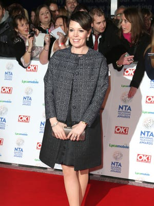 Olivia Colman, seen here at a 2014 TV awards show will take over the role of Queen Elizabeth in Seasons 3 and 4 of the Netflix drama, 'The Crown.'