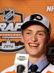 After the Flyers drafted Travis Sanheim in 2014, he racked up 133 points in the next two seasons with the Calgary Hitmen.