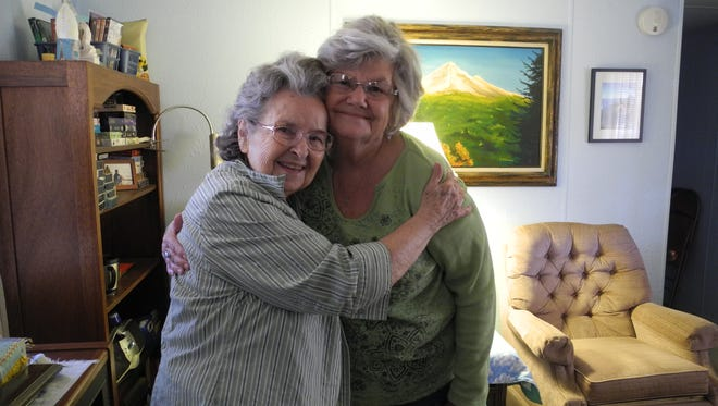 Diane Koble (right), a volunteer for Benevilla's Home Services program, was paired with Nina Waller in May 2015. Waller's son-in-law was looking for someone to check in on Waller when he traveled out of state.
