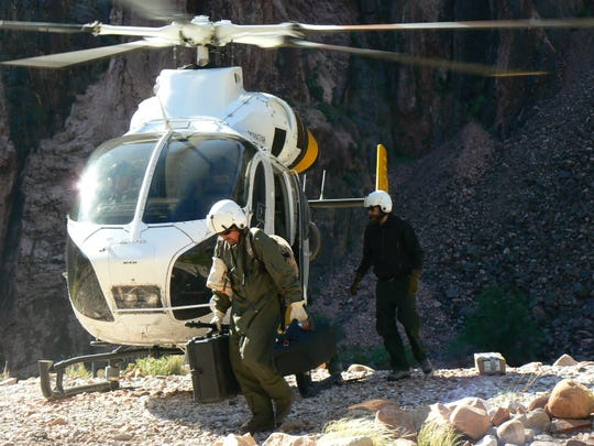 Kevin Hartigan's job for APS at the Grand Canyon has him going to work some days in a a helicopter.