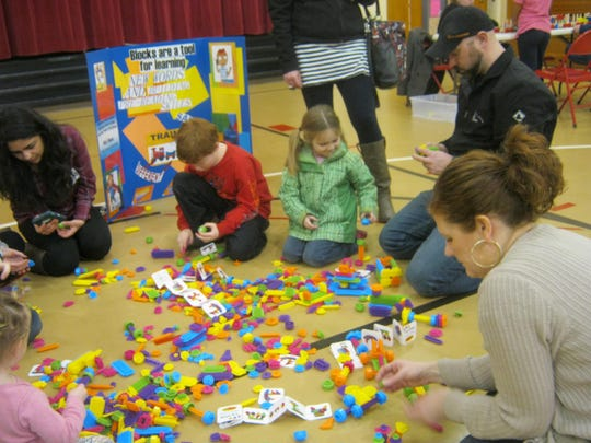 "Spring Road Elementary School in Neenah partnered with the UW-Extension in Winnebago County to reach out to students and their families with a ""block"" party during parent-teacher conferences in February."