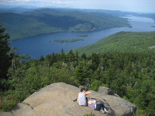 The view from Black Mountain offers a far-reaching vista.