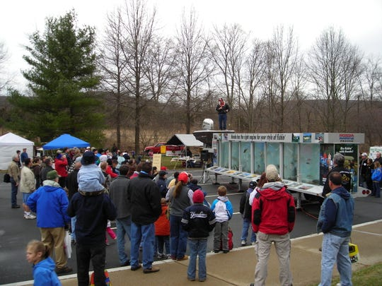About 4500 people head to the annual open house at the Pequest Trout Hatchery every year.